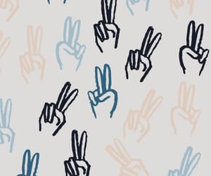 wallpaper, blue, and peace image