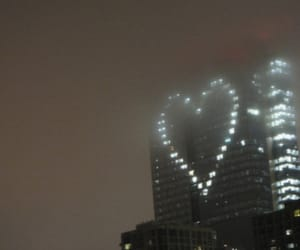 heart, light, and building image