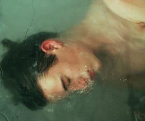 boy, water, and grunge image
