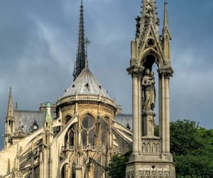 architecture, cathedral, and notre dame image