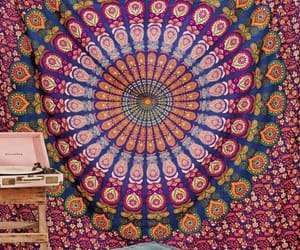 etsy, trippy tapestry, and dorm tapestry image