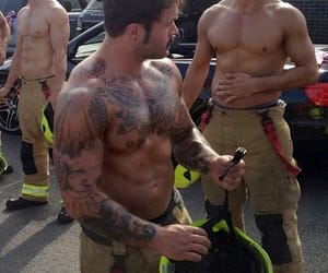 firefighters, hunks, and gym image