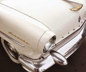 car, white, and vintage image