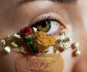 flowers, eyes, and hope image