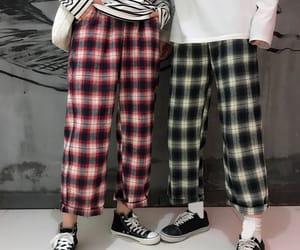 clothes, korean, and plaid image