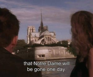 before sunset, church, and notre dame image