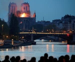 dame, fire, and paris image