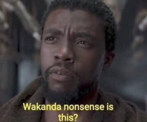 meme, Marvel, and black panther image