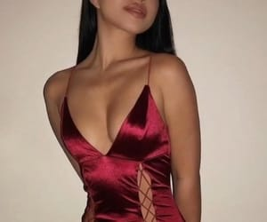 dress, formal, and lips image