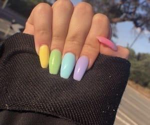 nails, pastel, and pink image