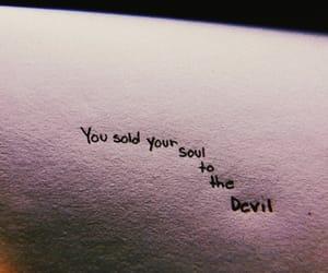 Devil and soul image