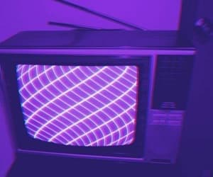 aesthetic, purple, and tv image