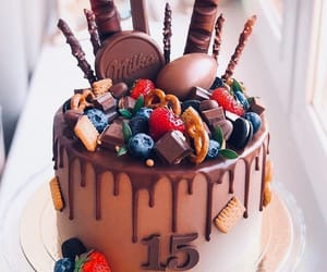 cake, chocolate, and sweet image