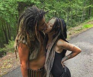 couple, hippie, and dreadlocks image