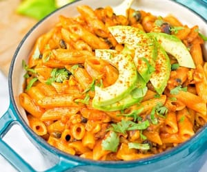 food, pasta, and penne image