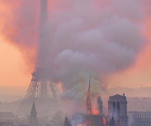 paris, notre dame, and fire image