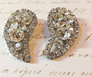 bridal jewelry, etsy, and wedding earrings image