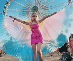 blue, festival, and coachella image