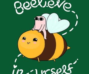 art, bee, and believe image