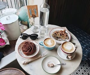 coffee, dessert, and enjoy image