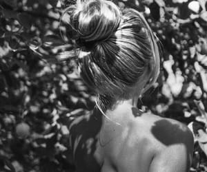 black and white, bun, and nature image