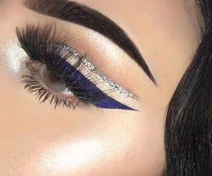 makeup, eyeliner, and girl image