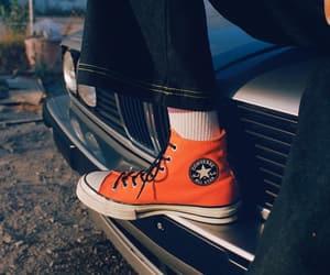 car, orange, and converse image