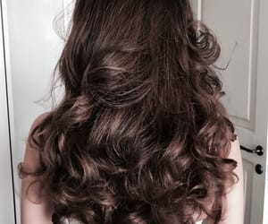 brunette, hair, and hairstyle image