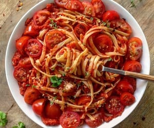 pasta, yummy, and delicious image