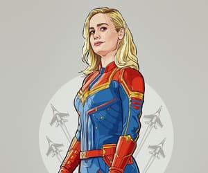 Marvel, wallpaper, and carol danvers image