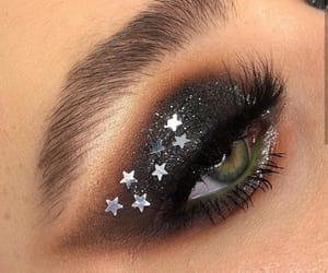 beautiful, black, and eye image
