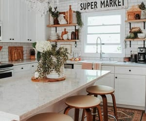 casual, kitchen, and nature image