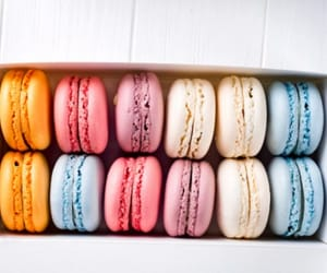 blue, spring, and macarons image