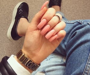 denim, nails, and sneakers image