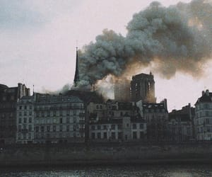 aesthetic, fire, and notre dame image
