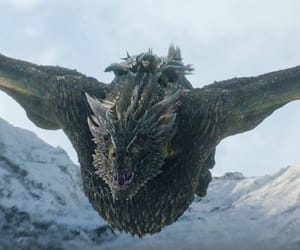 dragon, game of thrones, and stark image