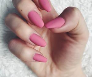 girly, long nails, and nails image
