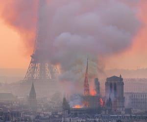 paris, notre dame, and fire image