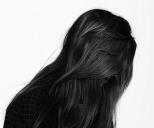black hair and hair image