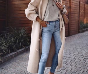 blouse, coat, and jeans image