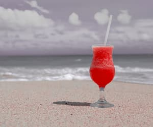 beach, drink, and summer image
