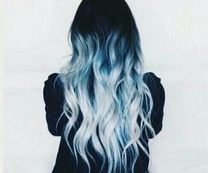 blue, white, and hair image