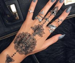 black, tattoo, and hand tattoos image
