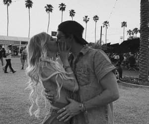 coachella, couple, and festival image
