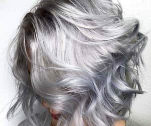 hair, silver, and beauty image
