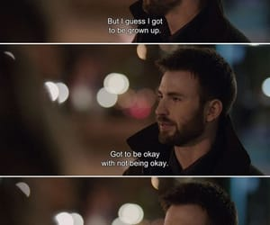 quotes, movie, and chris evans image