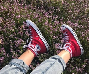 converse, aesthetic, and red image