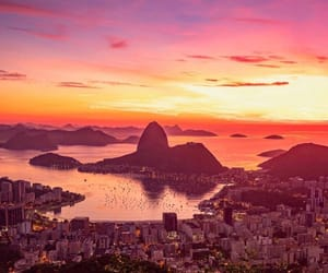light, rio de janeiro, and sunset image