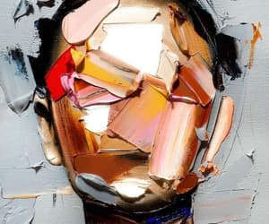 art, artist, and black hair image