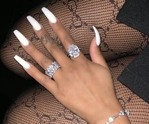 gucci, nails, and diamond image